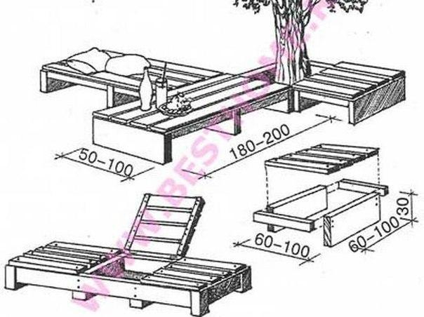 Как сделать топчан в садовом домике
