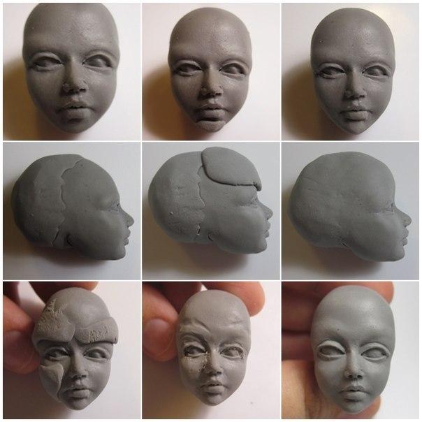 Как из глины сделать голову