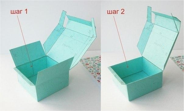 Коробка из бумаги с крышкой своими руками