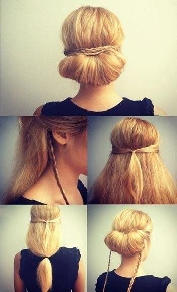 Как быстро сделать прическу с длинных волос самой себе