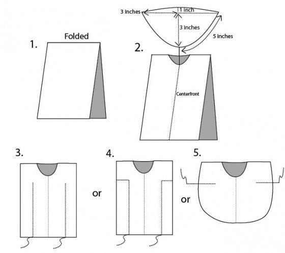 Как сшить тунику пляжную для начинающих выкройки