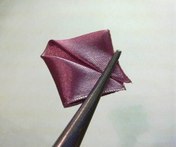 Роза из канзаши мастер класс