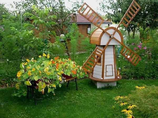 Идеи для сада огорода из дерева своими руками