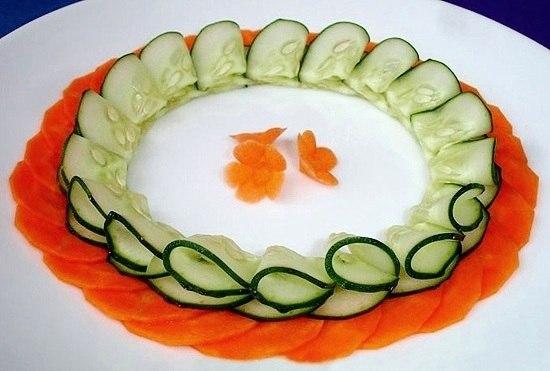 Украшение овощами стола пошаговое