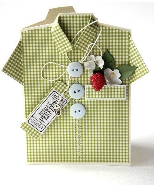 Открытка с днем рождения папе рубашка