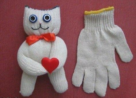 Поделки игрушки из перчаток своими руками с фото инструкцией
