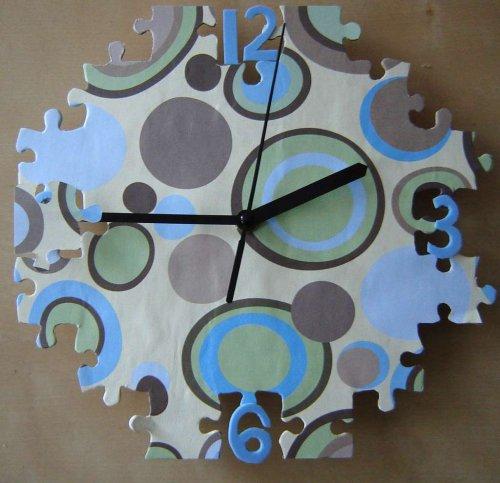 Часы своими руками из пазлов