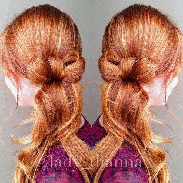 Как сделать хвост с бантиком из волос