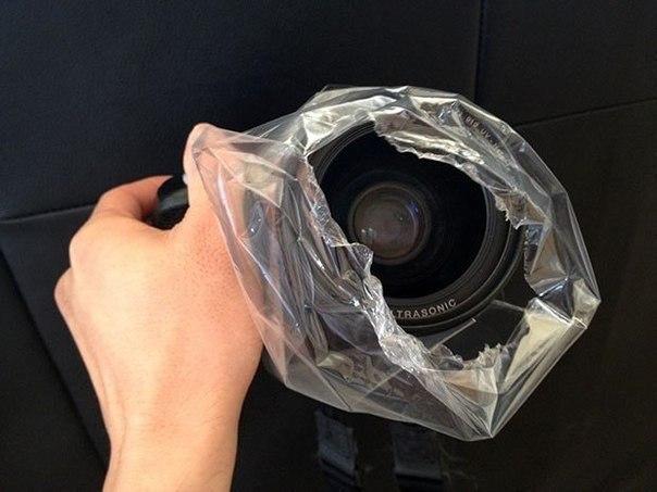 Дымчатые снимки с помощью полиэтиленового пакета